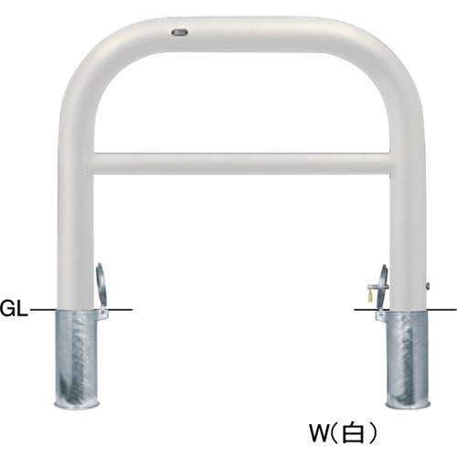 メーカー直送 サンポール アーチ φ101.6(t4.2)×W1000×H800mm カラー:白 [FAH-11SK10-800(W)]
