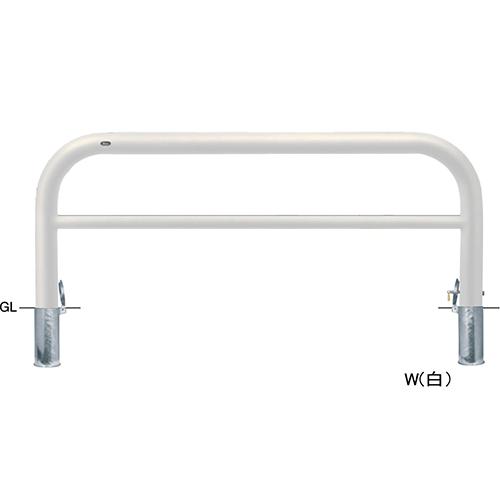 メーカー直送 サンポール アーチ 交換用本体のみ φ101.6(t4.2)×W2000×H800mm カラー:白 [FAH-11SK20-800(W)HONTAI]