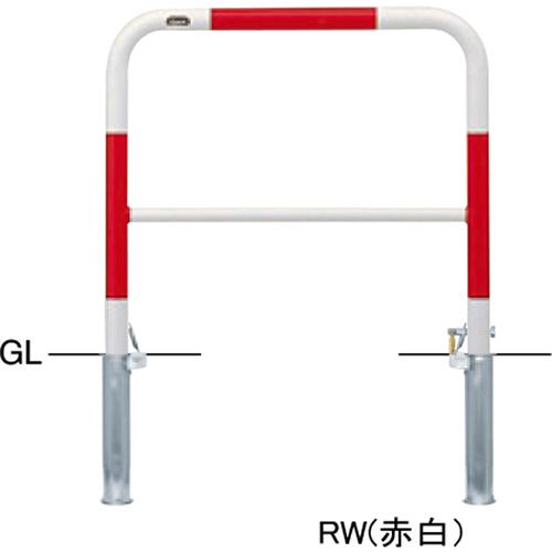メーカー直送 サンポール アーチ φ42.7(t2.3)×W700×H650mm カラー:黄 [FAH-42SK7-650(Y)]