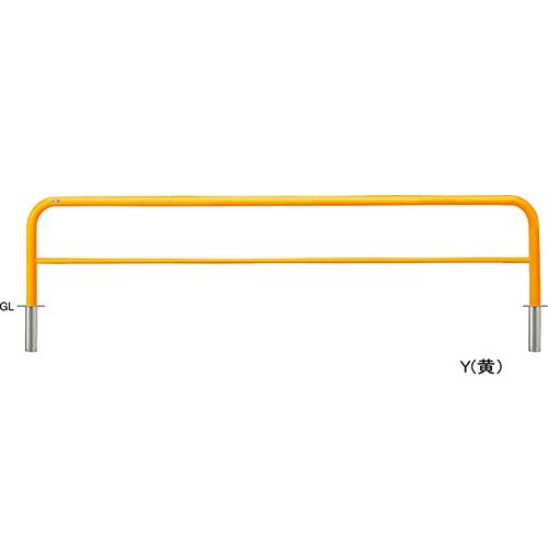 メーカー直送 サンポール アーチ φ60.5(t2.8)×W3000×H650mm カラー:黄 [FAH-7S30-650(Y)]