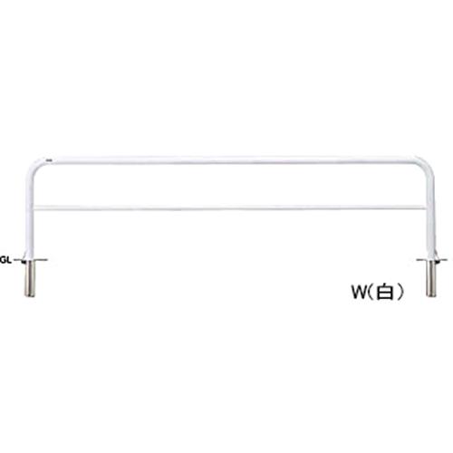 メーカー直送 サンポール アーチ   [FAH-7SF30-800(W)] φ60.5(t2.8)×W3000×H800mm SUNPOLE