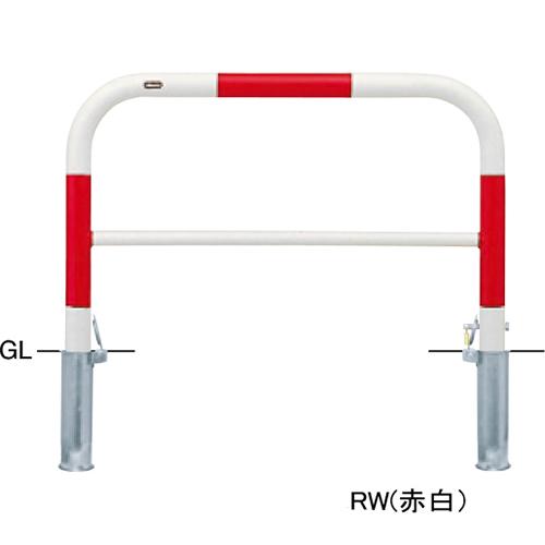 メーカー直送 サンポール アーチ 交換用本体のみ φ60.5(t2.8)×W1000×H650mm カラー:赤白 [FAH-7SK10-650(RW)HONTAI]