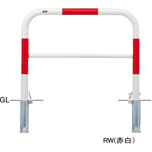 メーカー直送 サンポール アーチ   [FAH-7SK10-800(RW)] φ60.5(t2.8)×W1000×H800mm SUNPOLE