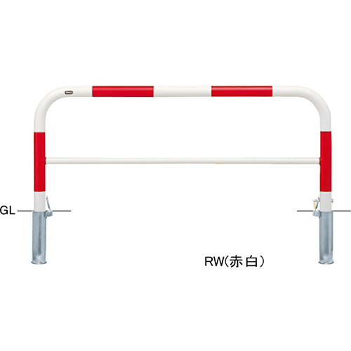 メーカー直送 サンポール アーチ   [FAH-7SK15-650(W)] φ60.5(t2.8)×W1500×H650mm SUNPOLE