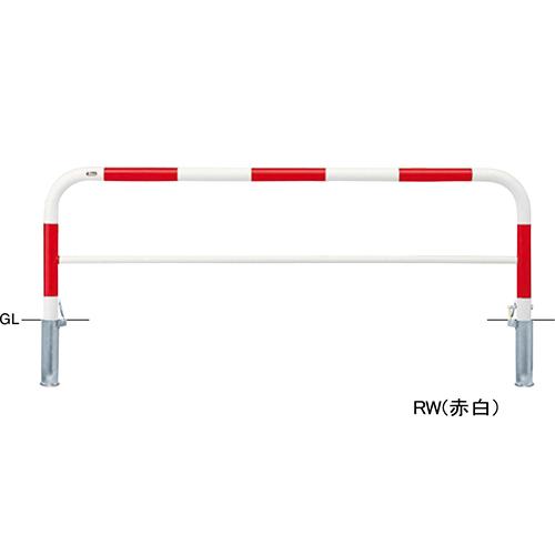 メーカー直送 サンポール アーチ 交換用本体のみ φ60.5(t2.8)×W2000×H650mm カラー:赤白 [FAH-7SK20-650(RW)HONTAI]