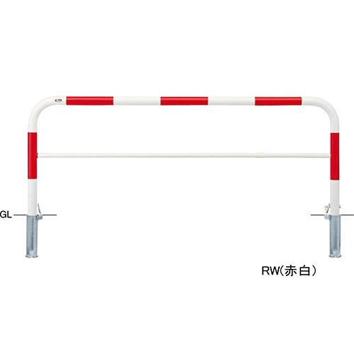 メーカー直送 サンポール アーチ 交換用本体のみ φ60.5(t2.8)×W2000×H800mm カラー:赤白 [FAH-7SK20-800(RW)HONTAI]