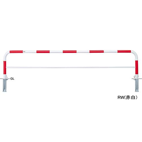 メーカー直送 サンポール アーチ φ60.5(t2.8)×W3000×H650mm カラー:赤白 [FAH-7SK30-650(RW)]