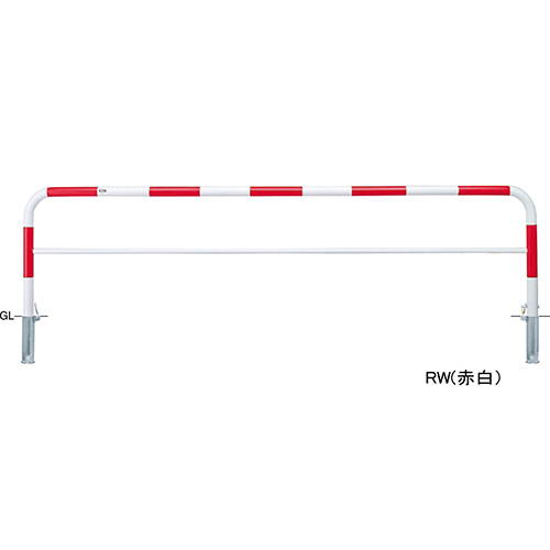 メーカー直送 サンポール アーチ φ60.5(t2.8)×W3000×H800mm カラー:赤白 [FAH-7SK30-800(RW)]