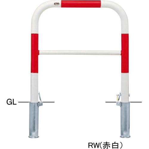 メーカー直送 サンポール アーチ   [FAH-7SK75-800(W)] φ60.5(t2.8)×W750×H800mm SUNPOLE
