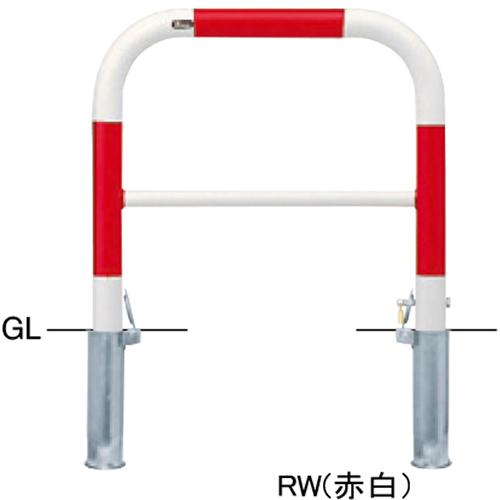 メーカー直送 サンポール アーチ  [FAH-7SK7-650(Y)] φ60.5(t2.8)×W700×H650mm SUNPOLE