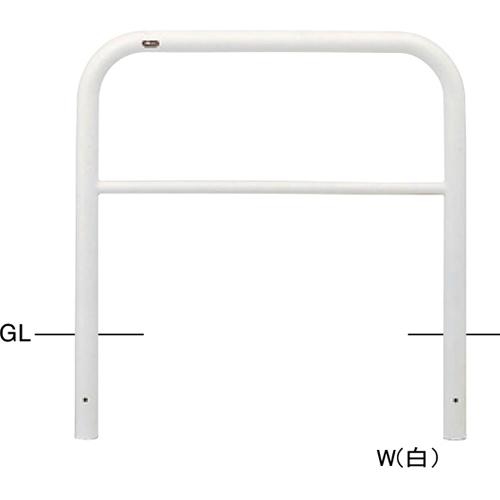 メーカー直送 サンポール アーチ  [FAH-7U10-800(W)] 色:白 φ60.5(t2.8)×W1000×H800mm SUNPOLE