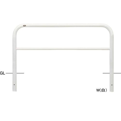 メーカー直送 サンポール アーチ φ60.5(t2.8)×W1500×H800mm カラー:白 [FAH-7U15-800(W)]