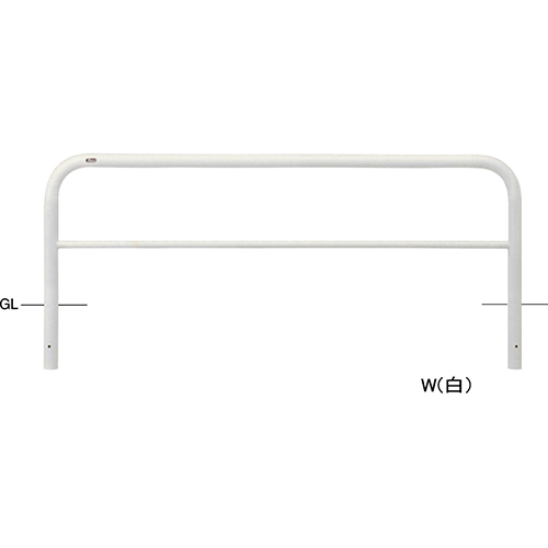 メーカー直送 サンポール アーチ  [FAH-7U20-650(RW)] φ60.5(t2.8)×W2000×H650mm SUNPOLE