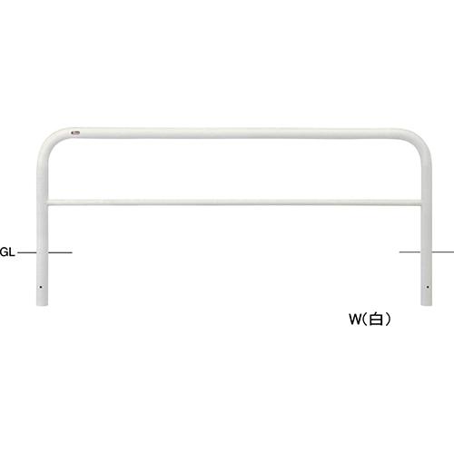 メーカー直送 サンポール アーチ φ60.5(t2.8)×W2000×H650mm カラー:白 [FAH-7U20-650(W)]