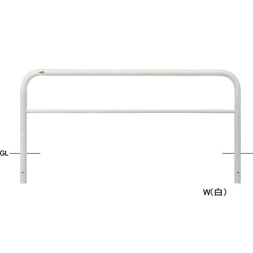 メーカー直送 サンポール アーチ φ60.5(t2.8)×W2000×H800mm カラー:白 [FAH-7U20-800(W)]