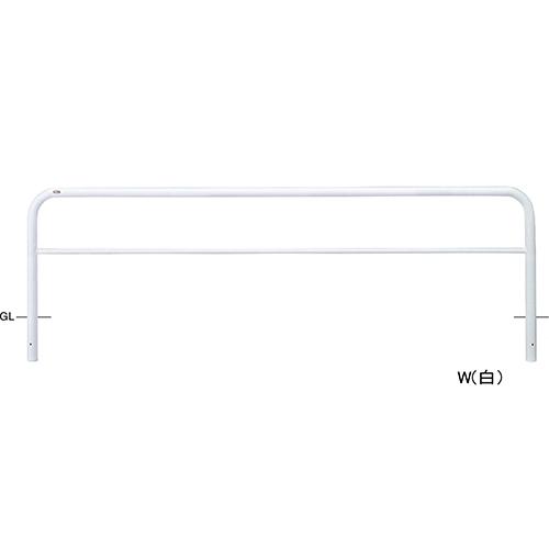 メーカー直送 サンポール アーチ φ60.5(t2.8)×W3000×H800mm カラー:白 [FAH-7U30-800(W)]