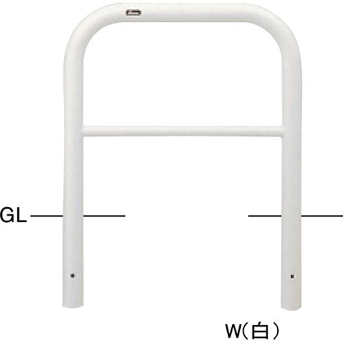 メーカー直送 サンポール アーチ φ60.5(t2.8)×W700×H650mm カラー:赤白 [FAH-7U7-650(RW)]