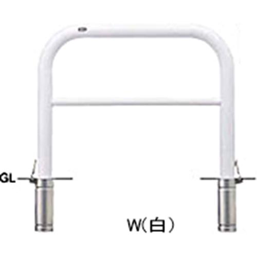 メーカー直送 サンポール アーチ φ76.3(t3.2)×W1000×H800mm カラー:白 [FAH-8SF10-800(W)]