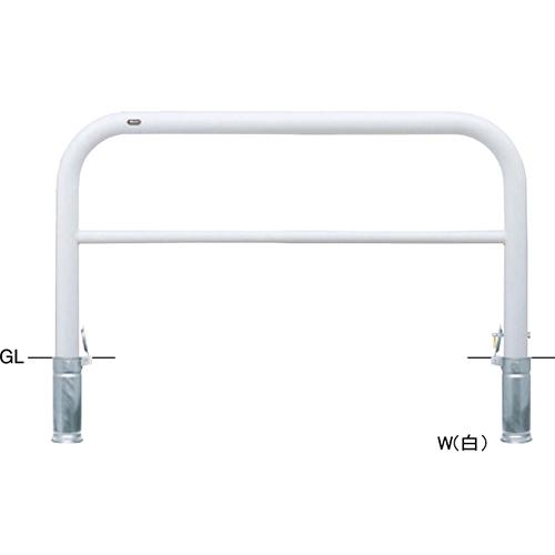 メーカー直送 サンポール アーチ   [FAH-8SK15-800(W)] φ76.3(t3.2)×W1500×H800mm SUNPOLE