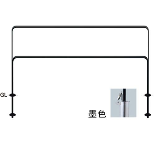 メーカー直送 サンポール 和モダン フラットバーアーチ W1500×H800mm カラー:桧皮色(ひわだいろ) [FNA-7SK15-800-134]