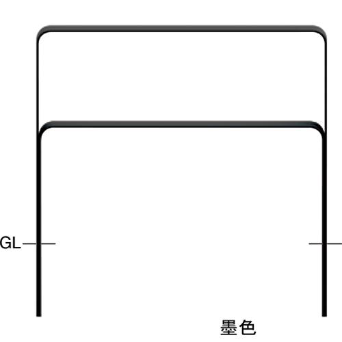 メーカー直送 サンポール 和モダン フラットバーアーチ W1000×H800mm カラー:桧皮色(ひわだいろ) [FNA-7U10-800-134]