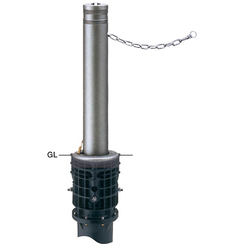 メーカー直送 サンポール リフターボラード 上下式車止め  [LV-360KC] φ115×H700mm SUNPOLE