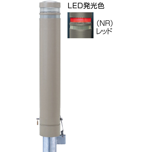 メーカー直送 サンポール リサイクルボラード φ130×H826mm カラー:グレーベージュ [RB-132SK-SOL(NR)]