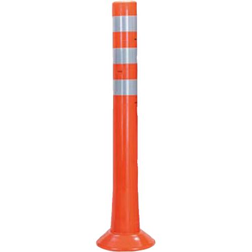 メーカー直送 サンポール ガードコーン φ80,台座径φ200×H800mm カラー:オレンジ [RBH-80(R)]