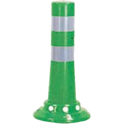 メーカー直送 サンポール ガードコーン φ80,台座径φ200×H400mm カラー:グリーン [RBHC-40(G)]