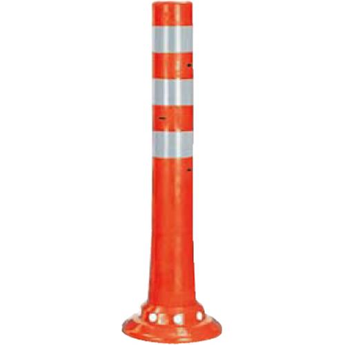 メーカー直送 サンポール ガードコーン φ80,台座径φ200×H650mm カラー:オレンジ [RBHC-65(R)]