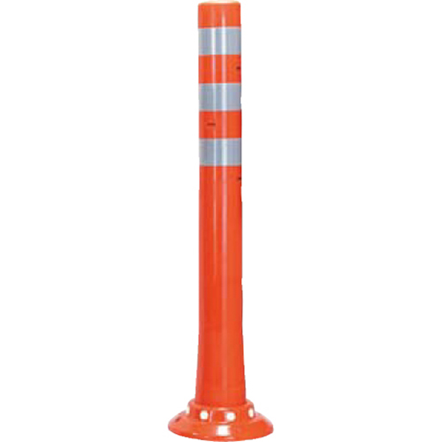 メーカー直送 サンポール ガードコーン φ80,台座径φ200×H800mm カラー:オレンジ [RBHC-80(R)]