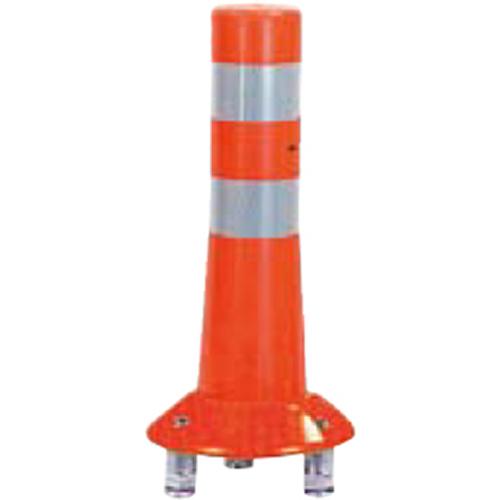 メーカー直送 サンポール ガードコーン φ80,台座径φ200×H400mm カラー:オレンジ [RBK3-40(R)]