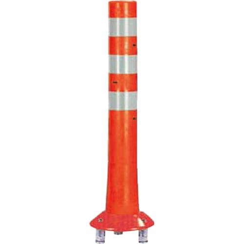 メーカー直送 サンポール ガードコーン φ80,台座径φ200×H650mm カラー:オレンジ [RBK3-65(R)]