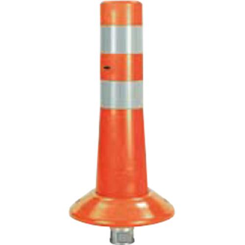 メーカー直送 サンポール ガードコーン φ80,台座径φ200×H400mm カラー:オレンジ [RBK-40(R)]