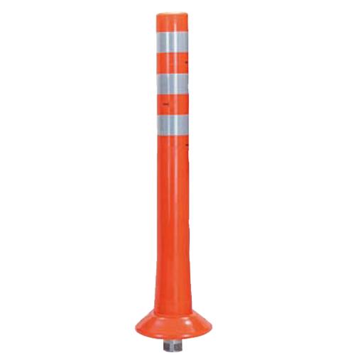 メーカー直送 サンポール ガードコーン φ80,台座径φ200×H800mm カラー:オレンジ [RBK-80(R)]