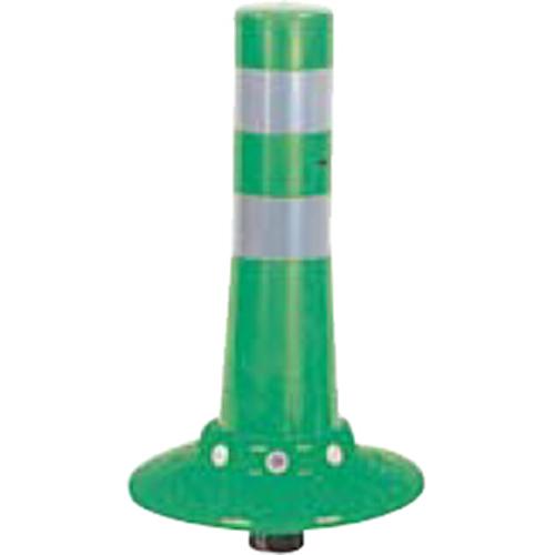 メーカー直送 サンポール ガードコーン φ80,台座径φ250×H400mm カラー:グリーン [RBKC-40W(G)]