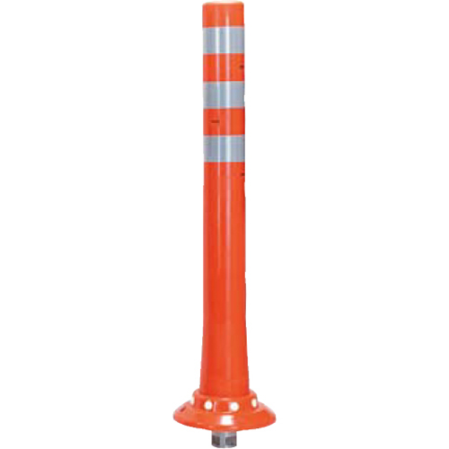 メーカー直送 サンポール ガードコーン φ80,台座径φ200×H800mm カラー:オレンジ [RBKC-80(R)]