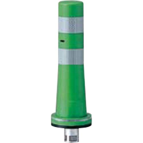 メーカー直送 サンポール ガードコーン φ80,台座径φ130×H400mm カラー:グリーン [RBKS-40(G)]