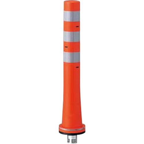 メーカー直送 サンポール ガードコーン φ80,台座径φ130×H650mm カラー:オレンジ [RBKS-65(R)]