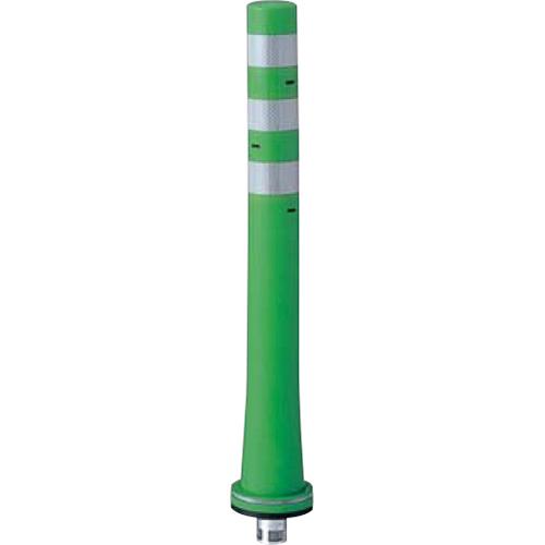 メーカー直送 サンポール ガードコーン φ80,台座径φ130×H800mm カラー:グリーン [RBKS-80(G)]