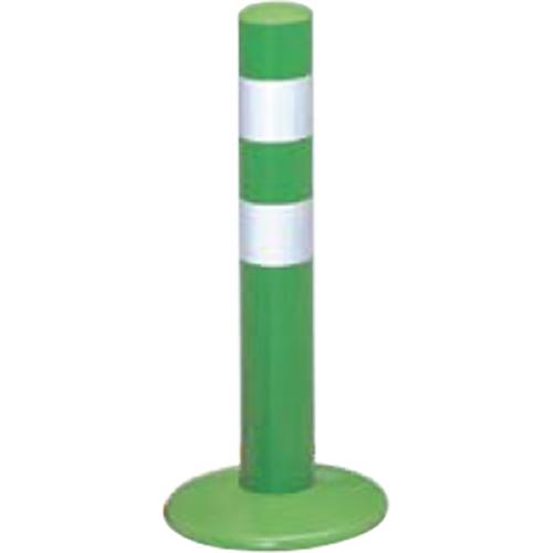 メーカー直送 サンポール ガードコーン φ60,台座径φ175×H400mm カラー:グリーン [RBMH-40(G)]