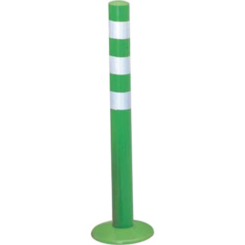 メーカー直送 サンポール ガードコーン φ60,台座径φ175×H650mm カラー:グリーン [RBMH-65(G)]
