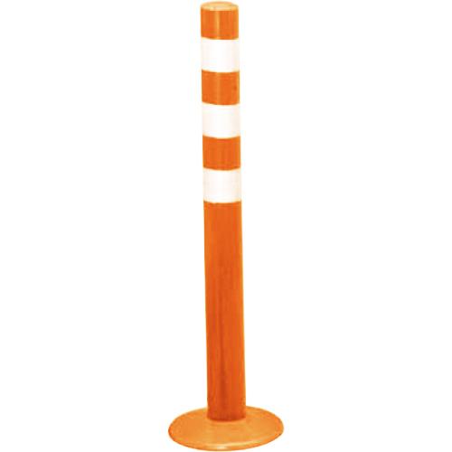 メーカー直送 サンポール ガードコーン φ60,台座径φ175×H650mm カラー:オレンジ [RBMH-65(R)]