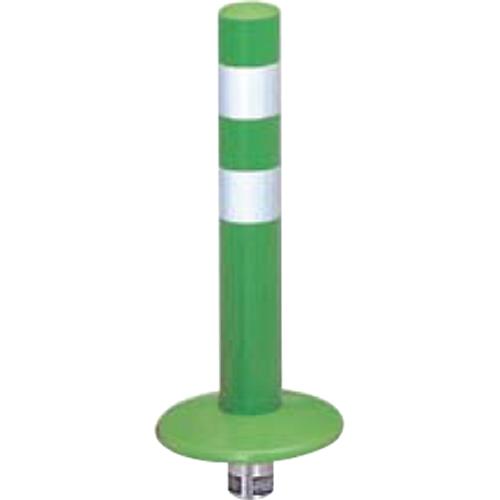 メーカー直送 サンポール ガードコーン φ60,台座径φ175×H400mm カラー:グリーン [RBMK-40(G)]