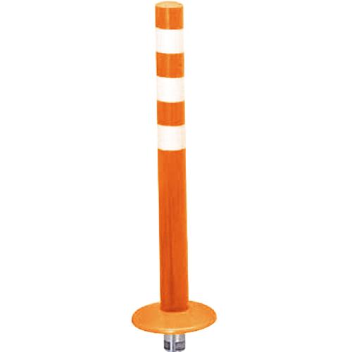 メーカー直送 サンポール ガードコーン φ60,台座径φ175×H650mm カラー:オレンジ [RBMK-65(R)]