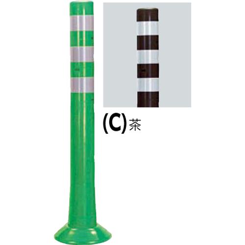 メーカー直送 サンポール ガードコーン  [RBS-80(C)] φ80,台座径 φ200×H800mm SUNPOLE