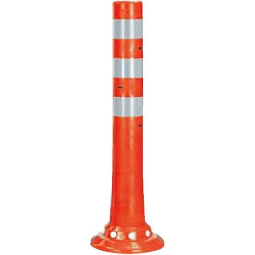 メーカー直送 サンポール ガードコーン φ80,台座径φ200×H650mm カラー:オレンジ [RBSC-65(R)]