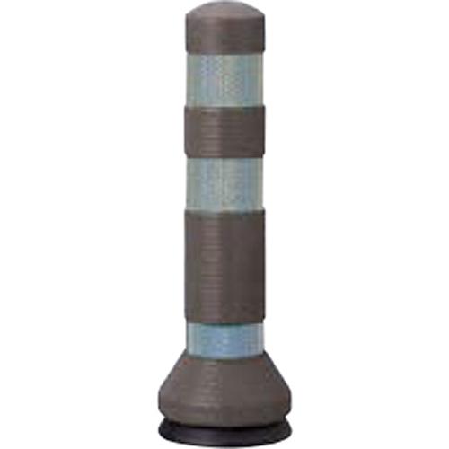 メーカー直送 サンポール リサイクルゴムボラード φ80×H425mm カラー:ダークブラウン [RC-40(KC)]