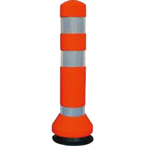 メーカー直送 サンポール リサイクルゴムボラード φ80×H425mm カラー:オレンジ [RC-40(R)]