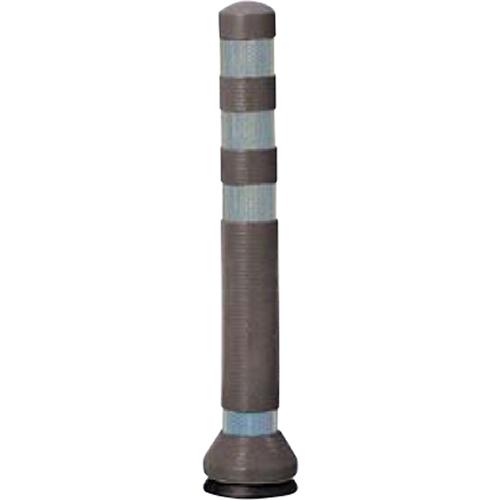 メーカー直送 サンポール リサイクルゴムボラード φ80×H675mm カラー:ダークブラウン [RC-65(KC)]